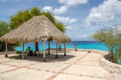 La playa magnífica hermosa de Knip en el Caribe Fotos de archivo