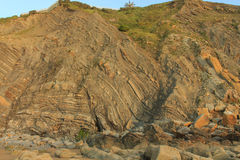 La playa maravillosa y peculiar de Barrika Fotografía de archivo libre de regalías