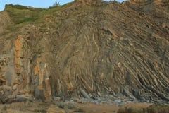 La playa maravillosa y peculiar de Barrika Imágenes de archivo libres de regalías