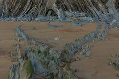 La playa maravillosa y peculiar de Barrika Imagen de archivo libre de regalías