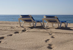 La playa para dos Fotografía de archivo libre de regalías
