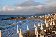 La playa por la tarde Imagen de archivo