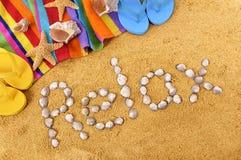 La playa relaja vacaciones Fotos de archivo