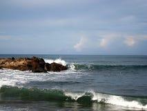 La playa rocosa de Las Penitas Foto de archivo libre de regalías