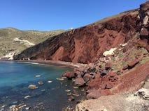 La playa roja Imagen de archivo libre de regalías