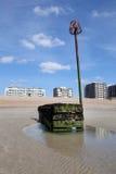 La playa sussex del este contiene el agua Foto de archivo libre de regalías