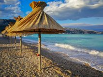 La playa vacía imágenes de archivo libres de regalías