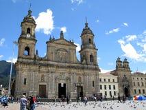 La plaza Bolivar de la plaza principal del capital Bogot del ` s de Colombia fotografía de archivo libre de regalías