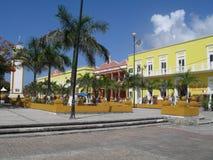 La plaza centrale nell'isola di Cozumel Immagine Stock Libera da Diritti