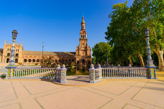 Famous Plaza de Espana, Sevilla, Spagna Fotografie Stock