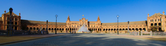 Famous Plaza de Espana, Sevilla, Spagna Immagine Stock Libera da Diritti