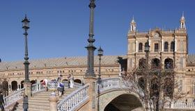 La plaza de Espana en Sevilla en Andalucía España Imagenes de archivo