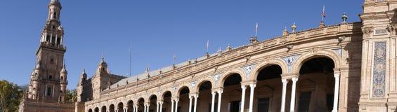 La plaza de Espana en Sevilla en Andalucía España Fotografía de archivo