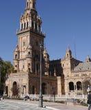 La plaza de Espana en Sevilla en Andalucía España Fotos de archivo