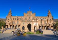 La plaza de Espana, Siviglia Fotografia Stock Libera da Diritti