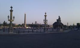 La plaza de la Concordia en el crepúsculo Fotografía de archivo