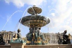 La plaza de la Concordia, fuente, París Imagen de archivo libre de regalías