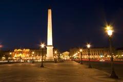 La plaza de la Concordia, París Foto de archivo
