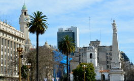 La Plaza de Mayo. The Plaza de Mayo, the founding site of the City of Buenos Aires, Argentina, was born of the union of the squares and Fort Victoria, in 1884 to Stock Image