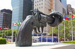 La plaza de siège social de nation unie Image stock