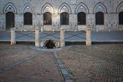 La plaza Del Campo en tierra de Siena Imagen de archivo libre de regalías