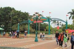 la plaza della terra Hong Kong di Disney Immagini Stock Libere da Diritti