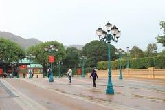 la plaza della terra Hong Kong di Disney Immagine Stock Libera da Diritti