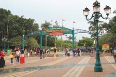 la plaza della terra Hong Kong di Disney Immagine Stock