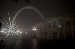 La plaza más grande de Verona Fotografía de archivo