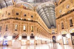 La plaza principal de la galería de Vittorio Emanuele Fotos de archivo libres de regalías