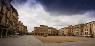La plaza principal de Vic imagen de archivo