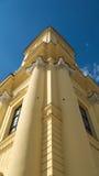La plaza principal y la iglesia principal de Debrecen Fotos de archivo libres de regalías