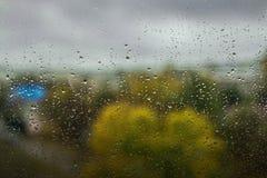 La pluie laisse tomber le fond Photographie stock libre de droits