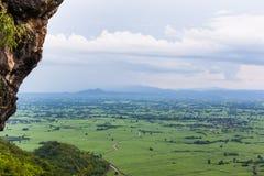 La pluie vient/forêt tropicale/forêt et nuages/vue d'Ava Images stock