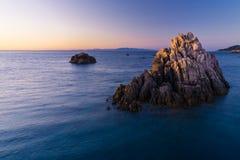 La plupart de belle île en Europe L'eau la plus claire en mer Méditerranée Côte Paradiso images stock