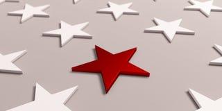 La plupart de symbole important d'étoile l'illustration 3d rendent illustration de vecteur