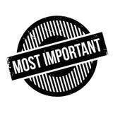 La plupart de tampon en caoutchouc important Photographie stock