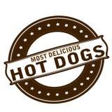 La plupart des hot-dogs délicieux illustration stock
