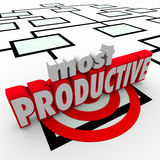 La plupart des Productive Employee Organization Chart Business Company Wor Photographie stock