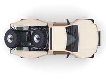 La plupart des sports préparés emballent le camion pour le terrain de désert Vue supérieure Image stock