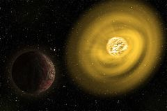 La plus grande étoile dans l'illustration d'univers Éléments de cette image meublés par la NASA illustration libre de droits