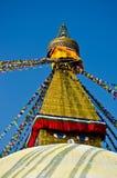 La plus grande pagoda dans le nepla, boudhanath, Katmandou, image libre de droits