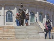 La plus grande statue du monde de Chinghis Khan Image libre de droits
