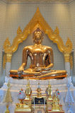 La plus grande statue pure de Bouddha d'or dans le monde chez Wat Traimit Photographie stock libre de droits