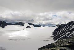 La plus haute montagne en Norvège, Galhopiggen Photos stock
