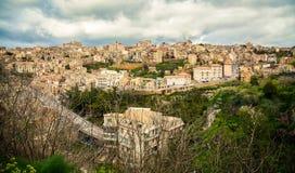 La plus haute ville en Sicile Photos libres de droits