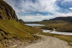 La plus longue route au Groenland mène à partir de Kangerlussuaq pour diriger 660 par la calotte glaciaire par beaucoup de vallée photographie stock libre de droits