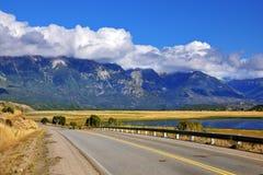 La plus longue route dans le Ruta 40 de l'Argentine Image libre de droits