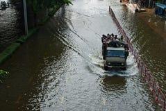La plus mauvaise inondation de Bangkok en 2011 Photo stock