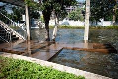 La plus mauvaise inondation de Bangkok en 2011 Photos libres de droits
